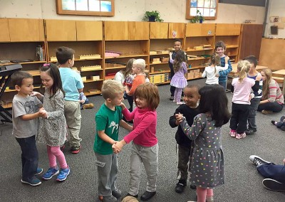 Learning dance moves in music class