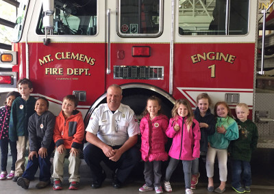 2015 Field trip to Mt. Clemens fire station